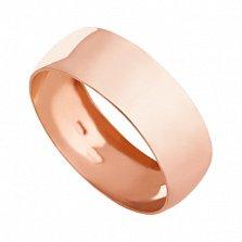 Обручальное кольцо из красного золота Classic wedding