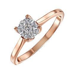 Золотое помолвочное кольцо в комбинированном цвете с бриллиантом 000104398