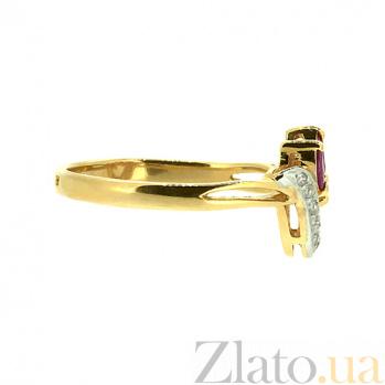 Кольцо из жёлтого золота с рубинами и бриллиантами Алиша ZMX--RR-6701y_K