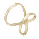 Золотое миди-кольцо Бесконечность в желтом цвете