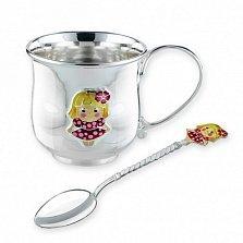 Детский серебряный чайный набор Милашка