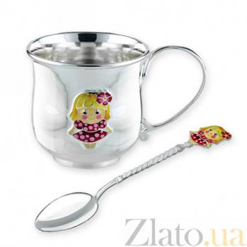 Детский серебряный чайный набор Милашка 2.8.0160_