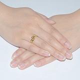Кольцо из желтого золота Любовь
