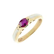 Кольцо из красного золота с рубином Инга