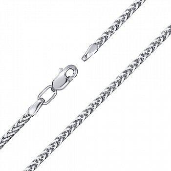 Браслет из серебра в плетении колосок, 2 мм 000118120