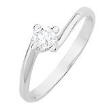 Серебряное кольцо Дайна с фианитом