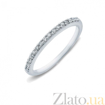 Серебряное кольцо с цирконами Дорожка AQA-MRC-011/1