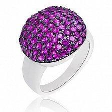 Серебряное кольцо Лиловый плен с кристаллами Swarovski