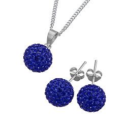 Ювелирный серебряный набор Фортуна с синими кристаллами Swarovski