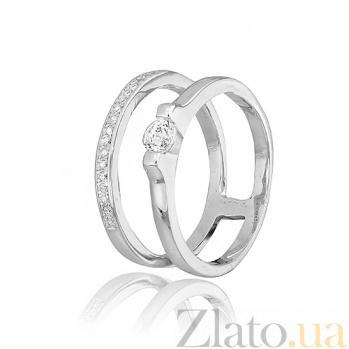 Двойное кольцо из серебра Долорес 000025752