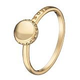 Золотое кольцо Мирабель в желтом цвете с фианитами