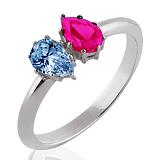 Помолвочное кольцо Josephine с рубином и топазом