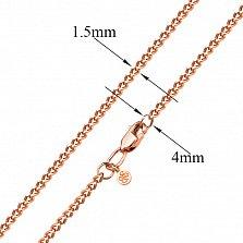 Золотая цепь Прованс в красном цвете панцирного плетения