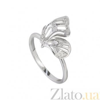 Золотое кольцо с бриллиантами Порхание бабочки 000032307