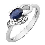 Серебряное кольцо с сапфиром Азон