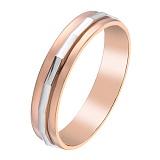 Золотое обручальное кольцо Милость