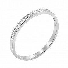 Обручальное кольцо из белого золота Нежное чувство с бриллиантами