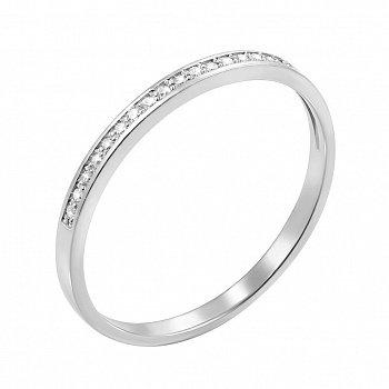Обручка з білого золота з діамантами 000117324