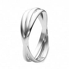 Серебряное тройное кольцо Slim Trio