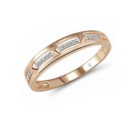 Обручальное кольцо Лад из красного золота с бриллиантами