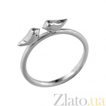 Кольцо из серебра Две птички 000026551