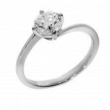 Кольцо из белого золота Милагро с бриллиантом