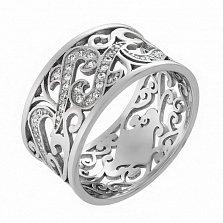 Кольцо в белом золоте Le Louvre с фианитами