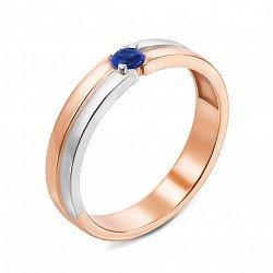 Кольцо в комбинированном цвете золота с сапфиром 000134563