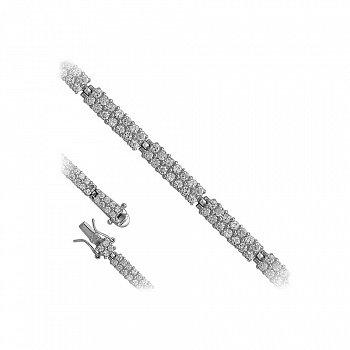 Серебряный браслет с фианитами 000119620