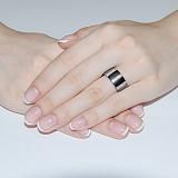 Кольцо из керамики и серебра Лиора