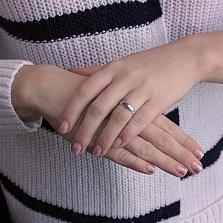 Серебряное обручальное кольцо Классик