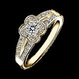 Кольцо в лимонном золоте с микро-паве Chance of Love