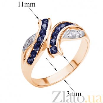 Кольцо из красного золота с сапфирами и бриллиантами Арника ZMX--RS-6116_K