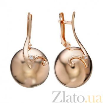 Золотые серьги с цирконием Теорема стиля TNG--420984