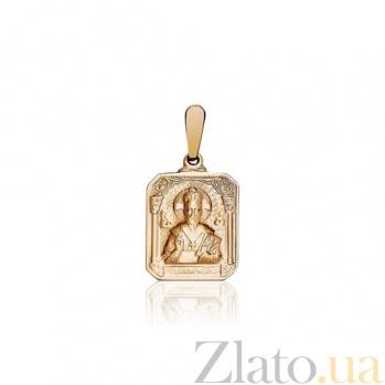 Ладанка из красного золота Николай Чудотворец без камней EDM--П006