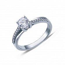 Серебряное кольцо на помолвку Грация