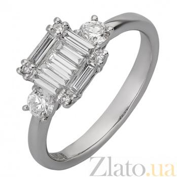 Кольцо из белого золота с бриллиантами Деметрия R-01210