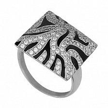 Золотое кольцо Сафари с фианитами