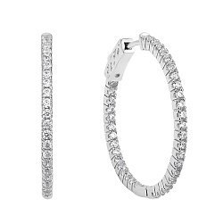Серебряные серьги-кольца Мальва с фианитами