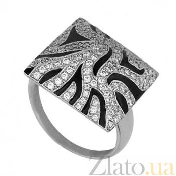 Золотое кольцо Сафари с фианитами VLT--Т153