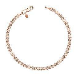 Золотой браслет в красном цвете с алмазной гранью, 3мм 000115608