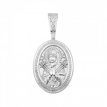 Серебряная ладанка Божия Матерь Семистрельная 000146331