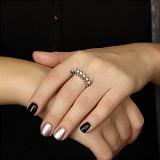 Золотое кольцо Королевский веер с бриллиантами