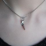 Серебряный кулон Эйден с бриллиантами
