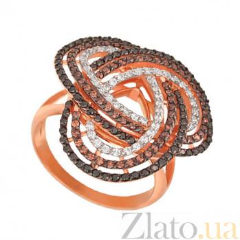 Кольцо из красного золота Фейерверк с фианитами VLT--ТТ1010-3