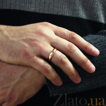 Золотое обручальное кольцо Весенняя любовь в красном цвете 000045999