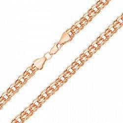 Золотая цепочка в красном цвете с алмазной гранью, 6,5мм 000128007