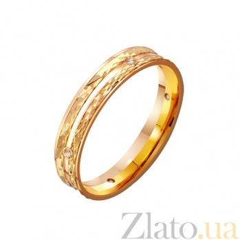 Золотое обручальное кольцо Вечный праздник с фианитами TRF--4121107