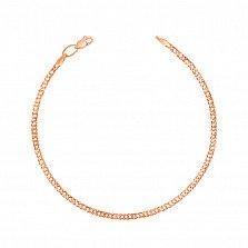 Золотой браслет Мирабель с алмазной гранью, 2мм