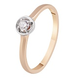 Кольцо с бриллиантом Янита